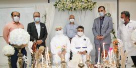 جشن پیوند زوج پرستار بیمارستان امیرالمونین اهواز با رنگ و بوی کرونا